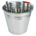 Edelstahleimer 12 Liter Metalleimer Wassereimer Blumenkübel Ascheeimer Dekoeimer