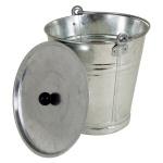 Zinkeimer 12L mit Deckel Zink Eimer Blumenkübel Wassereimer Metalleimer verzinkt