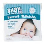 5er Pack Stoffwindeln Weiß 100 % Baumwolle Mull- Spucktücher 80 x 80 cm Baby