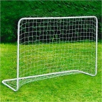 Alu-Fussballtor mit Netz 182x122cm mit Befestigung Garten Kicker Steckverbindung