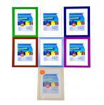 Holz-Fotorahmen 21x29, 7cm 2er Pack versch.Farben