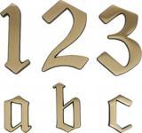 HAUSNUMMERN-MESS-BR.120MM Hausnummer 0421957 421957-4-