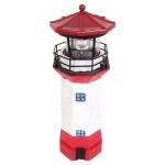 Solar-Leuchtturm 27, 5cm mit rotierendem LED Licht Gartenleuchte Terrassendeko