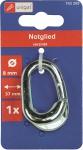 Uniqat Notglieder Notglied Verz. 4mm A 4 Stueck