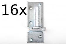 16Stück Kloben elektrisch verzinkt D 1, 16 mm für Ladenband Plattenhaken Haken