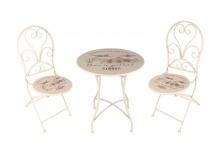 Metall Sitzgarnitur Vintage Klapptisch Klappstühle Gartentisch Gartenstühle Set