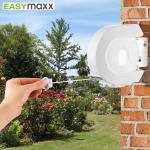Easymaxx 12m Wäscheleine mit Aufrollsystem Leinenspender Wand-Wäschetrockner