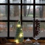 Deko Tannenbaum 21cm LED beschneit Weihnachtsbaum Weihnachtsdeko Tischdeko Baum