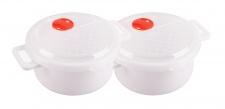 2x Mikrowellen Kasserolle 1, 0L Mikrowellengeschirr Gefrierdose Frischhaltedose