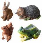 Tiere mit Sensor und Tiergeräuschen Gartenfigur Teichfigur Gartendeko Skulptur