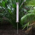 Solar LED Außenthermometer Gartenthermometer Wetterstation Temperaturmesser Deko