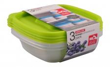 Frischhaltedosen 3er-Set 0, 8L Vorratsdosen Aufbewahrungsdose Mikrowellendose