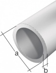 GAH Alberts RUNDROHR 474423 Alu Silberf. 2m/8x1mm