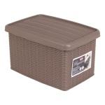 Box Elegance taupe Rattanoptik Aufbewahrungsbox Allzweckbox Ordnungsbox Regalbox
