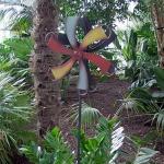 Gartenstecker Windrad bunt 114cm Metall Gartendeko Windmühle Windspiel Beetdeko