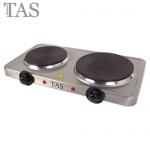 TAS Edelstahl-Doppel-Kochplatte 2500W