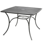 Metall-Gartentisch 100cm Gartenmöbel Metalltisch Balkontisch Terrassentisch grau