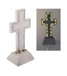 Solar Grablicht Kreuz 28x13cm LED Grabschmuck Grabdeko Gedenkstein Grableuchte