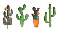 LED Deko Kaktus Gartenstecker Metallfigur Dekopflanze Kakteen Solar Gartendeko
