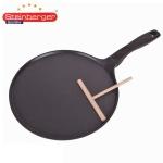 Steinberger Crêpes-Pfanne + Verteiler Pfannkuchen Eierkuchen Omelett Aluguss