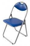 Metall Klappstuhl blau Kunststoffpolster Gästestuhl Stuhl Gäste Besucherstuhl