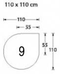 Bodenplatten Kontor GLASPLATTE Glas-Unterlegplatten 100609 6mm 1100x1100 Tropfenform