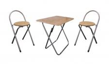 Klapptisch mit Stühle 3er-Set Sitzgruppe Campingmöbel Picknicktisch Gartenmöbel