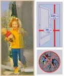 Universal Fliegengitter für Türen bis 95x220 Insektenschutz Mückenschutz Vorhang