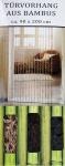 Türvorhang aus Bambus Insektenschutz Fliegenschutz Bambusvorhang Raumteiler Deko
