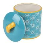 Keramik Keksdose Gebäckdose Plätzchendose Biscuitdose Vorratsdose Deko 14x18, 5cm