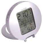 Funk-Reisewecker Digitalwecker Funkwecker Uhr Alarm Thermometer Auto-Beleuchtung