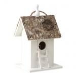 Vogelhaus weiß Vogelhäuschen Nisthöhle Nistkasten Brutkasten 14x12x24cm