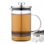 Kaffee- & Teezubereiter 800ml Kaffeekanne Teekanne Kaffeebereiter Presse Tee