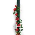 Fallrohr Spalier weiß Blumenspalier Rankhilfe Rankgitter Kletterhilfe 115x18cm