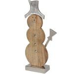Deko-Schneemann 32cm Winterdeko Weihnachtsdeko Dekofigur Tischdeko Holzfigur