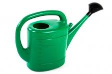 Grüner Jan Gießkanne 10 Liter mit Gießerhalter grün