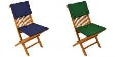 Auflagenset Modena 2tlg. Gartenstuhlauflage Sitzkissen Stuhlkissen mit Bänder