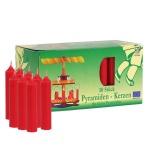 50 Pyramidenkerzen rot 14x70mm Weihnachtskerze Adventskerze Weihnachtspyramide