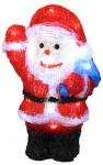 LED Deko-Weihnachtsmann aus Acryl 30cm Weihnachtsdeko Weihnachtsfigur Dekofigur