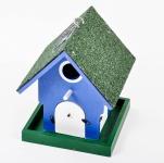 Vogelnist-Futterhaus mit Solar und LED Beleuchtung