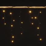 135 LED Lichtervorhang Lichterkette warmweiß Weihnachten Beleuchtung Aussen Deko