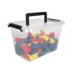 Aufbewahrungsbox mit Deckel und Tragegriff Sammelbox Stapelbox Kiste Allzweckbox