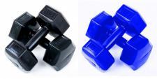 Vinyl-Hantel 2er-Set 3 kg Fitness Hantelscheiben Hanteln Krafttraining Gewichte