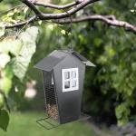 Metall Vogelfutterhaus Vogelfutterspender Futterstation Futterspender Futterhaus
