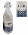 LORY Flasche 0, 5 L Retro mit Bügelverschluss Fluppverschluss Vintage
