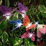 Solar LED-Lichterkette 10 Schmetterlinge Gartendekoration Beleuchtung 180cm