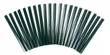 40 PVC grün Klemmleisten Sichtschutz Klemmschienen Zaunblende Doppelstabmattenzaun