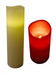 LED Wachs-Stumpenkerze Ø 10cm mit Pustefunktion Adventskerze Weihnachtsdeko