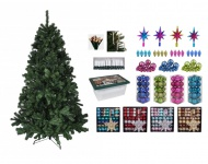 BURI® Weihnachtsbaum Weihnachtsbaumkugeln Baumschmuck Baumkerzen Lichterkette