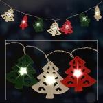 LED-Lichterkette Tannenbaum Weihnachtsbeleuchtung Weihnachtsdeko Fensterdeko